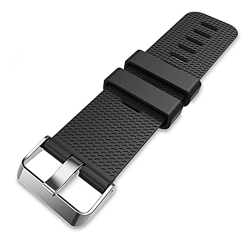 TUSITA Band Extender for Fitbit Versa 2, Versa, Charge 4, Charge 3, Charge 2, Charge HR, Charge with Fastener Ring - TPE Extend Strap Bracelet Wristband Buckle Closure - Smart Watch Accessories