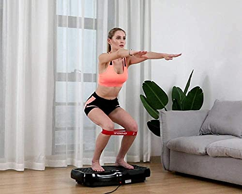 FITODO Vibration Plate Trainer Fitness Vibrating Machine Oscillating Platform Whole Body Shaking Massager - Remote Control/Bluetooth Music/USB Connection(Black)
