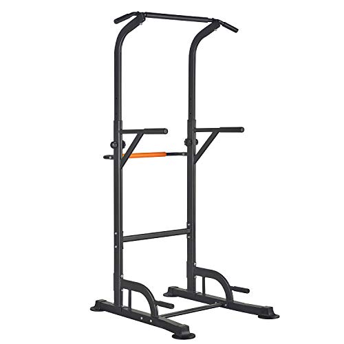 RELIFE REBUILD YOUR LIFE Power Tower Pull Up Bar Dip Station Stands Multifunctional Adjustable Push up Exercise Euipment for Home Gym Training Body Workout