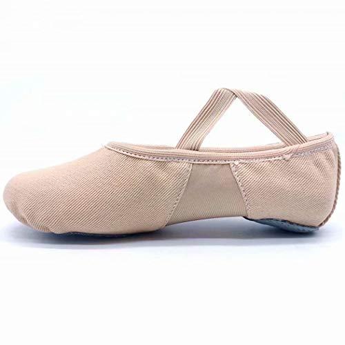 s.lemon All-Round Elastic Canvas Ballet Dance Shoes Stretch Ballet Slippers for Girls Kids Women