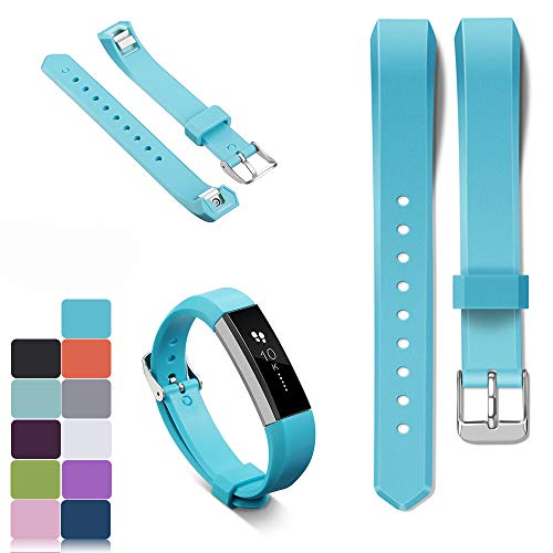 iFeeker Soft Silicone Replacement Ajusttable Bracelet Strap Watch Bands for Fitbit Alta and Alta HR Smartwatch