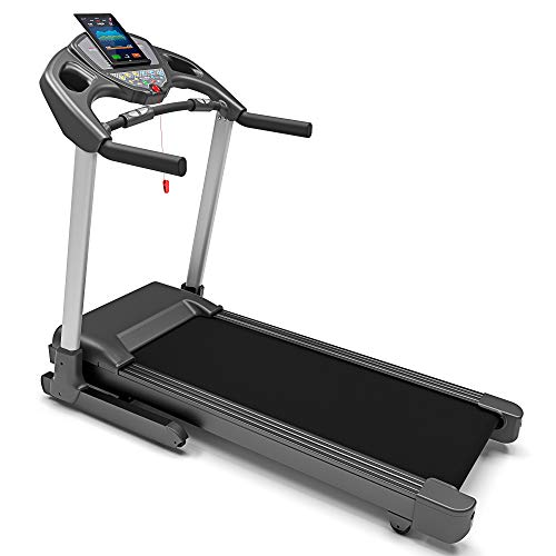 Bluefin Fitness KICK Innovative High-Speed Folding Treadmill | Quiet | 20 Km/h + 7 HP + 15% Incline | Joint Protection Tech | Kinomap | Live Video Streaming | Video Coaching & Training | HRC Sensors