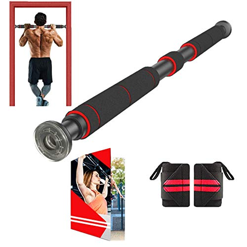 Pull Up Bar Door Frame | Chin-Up Bar for Doorway with Extended Hand Grips - Trainer for Home Gym Exercise,70 - 100 CM Adjustable Length