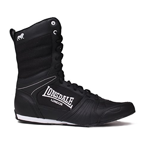 Lonsdale Mens Contender Boxing Boots Full Lace Up Sport Shoes Trainers Footwear