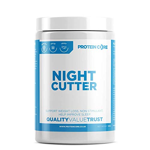 Night Cutter Fat Burner Tablets - Fast Weight Loss Tabs - Non-Stimulant - Lose Weight Management Quick Pills + Improve Tone For Men & Women UK Made - 2 MONTHS SUPPLY - Protein Core (120)