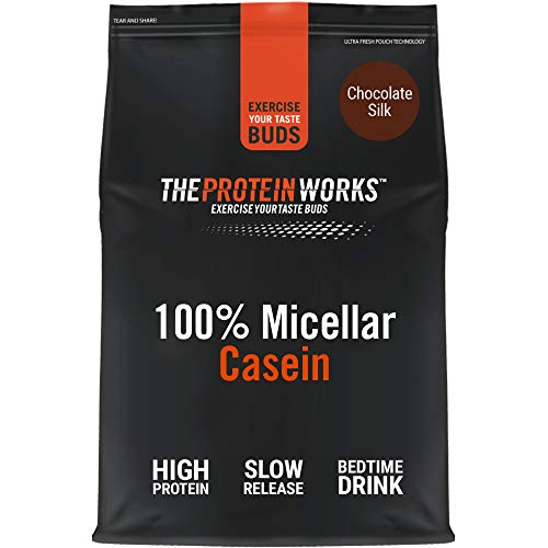 100% Micellar Casein Protein Powder | Slow Release Protein Shake | Amino Acids | High Protein | THE PROTEIN WORKS | Chocolate Silk | 1 Kg
