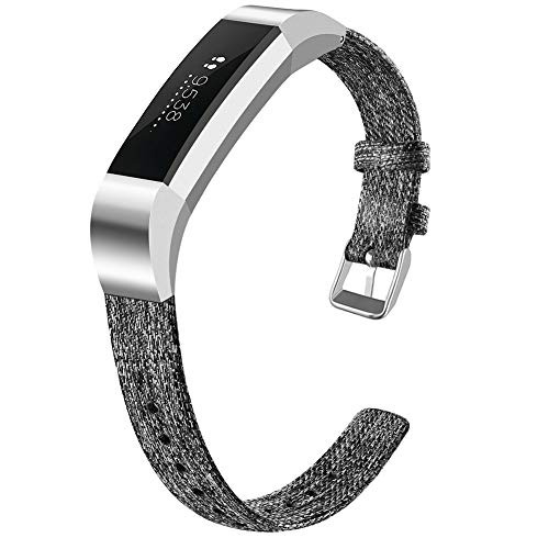 OenFoto Compatible Fitbit Alta HR Wrist Straps, Adjustable Nylon Replacement Watch Band Canvas Straps Accessory Bracelet for Fitbit Alta HR/Fitbit Alta Smart Watch, Large Small