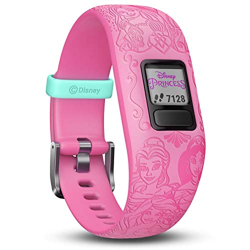 Garmin vivofit Jr. 2 - Disney Princess Activity Tracker for Kids - Adjustable Band - Pink