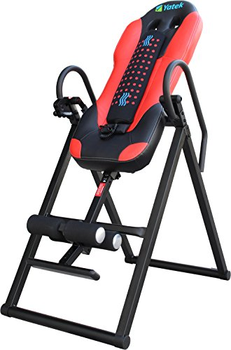YATEK Folding Inversion Table Deluxe, supports up to 150kg, with a massager, robust and possibility total inversion