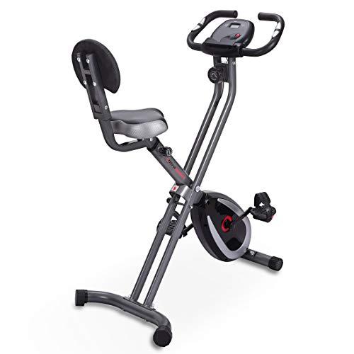 Ultrasport Unisex's F-Bike 300B Fahrradtrainer mit Rückenlehne, Trainingscomputer & App, Einfach faltbar, Matt Black Hometrainer, Fitnessbike