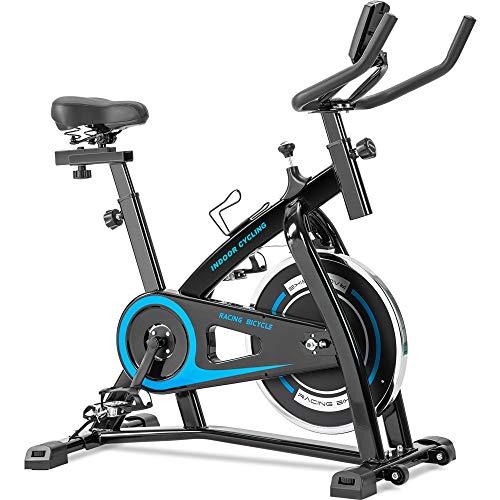 Merax Indoor Cycling Bike with Adjustable Resistance, Belt Drive Exercise Bike Stationary Bike