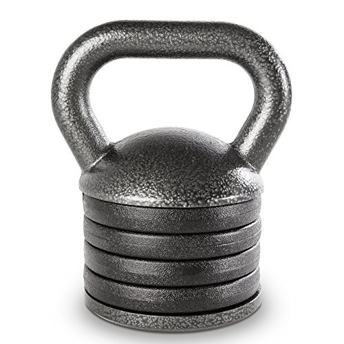 Apex Unisex_Adult Adjustable Heavy-Duty Exercise Kettlebell Weight Set Strength Training and Weightlifting Equipment for Home Gyms APKB-5009 Lifting, Gray, Einstellbar