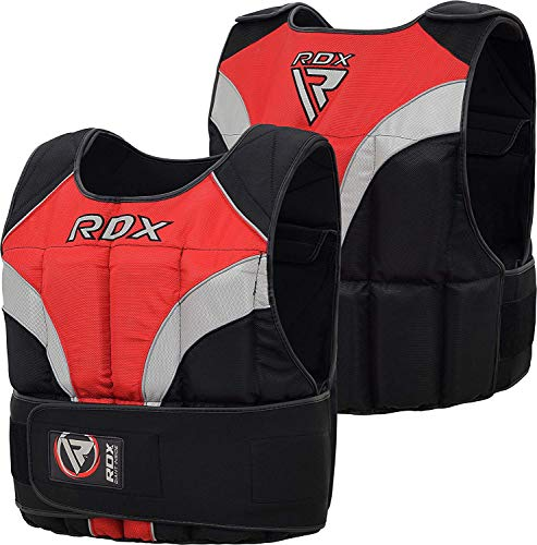 RDX 20Kg Adjustable Weighted Vest For Running, Weight Loss, Removable Weights Gym Vest for Sprints Training, Functional Workout, Weight Lifting, Powerlifting and Pull-Ups