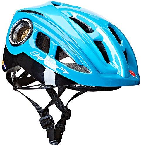 Brooks Supa Cross Adult's Cycling Helmet, Unisex, Fahrradhelm Supacross, black/blue, L/XL