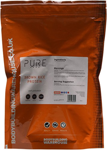 Bodybuilding Warehouse Pure Brown Rice Protein Concentrate 80 Powder 1 kg