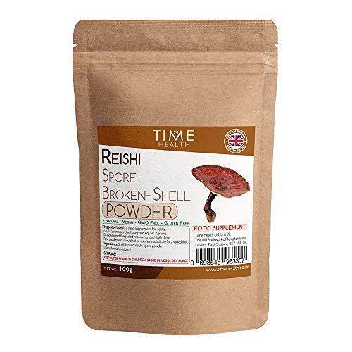 Reishi Broken-Shell Ganoderma Lucidum Spore Powder - Dual Extracted - Zero Additives - British Brand - 100g