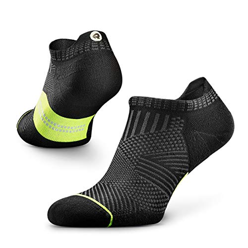 Rockay Accelerate Anti-Blister Running Socks for Men and Women, Cushion, Ankle Cut, Arch Support, Anti-Odor
