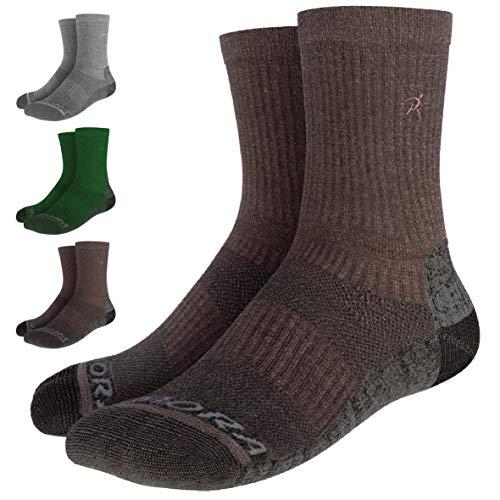 Rymora Walking Socks Hiking Socks Men Women (Merino Wool, Moisture Wicking, Seamless Toe) (One Pair - Brown) [S] (Small: UK 3-6.5 / EU 35-39)