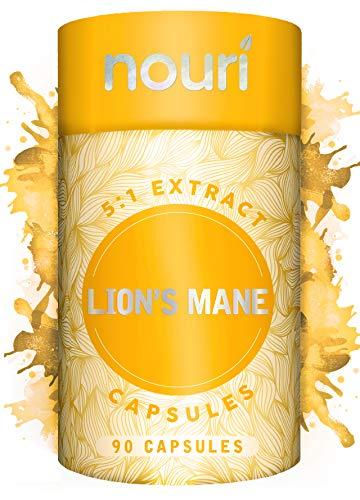 Lion's Mane 5:1 Extract - 90 Vegan Capsules, 2000mg per Serving Non-GMO 100% Natural