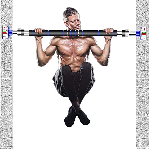 HAKENO Pull Up Bar Doorway Chin up Bar No Screw Installation Adjustable Width Wall Bar Locking Mechanism Heavy Duty Gym Exercise Fitness Bar