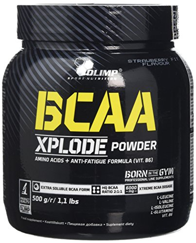 Olimp Labs Strawberry BCAA Xplode Recovery and Energy Supplement Powder, 500g