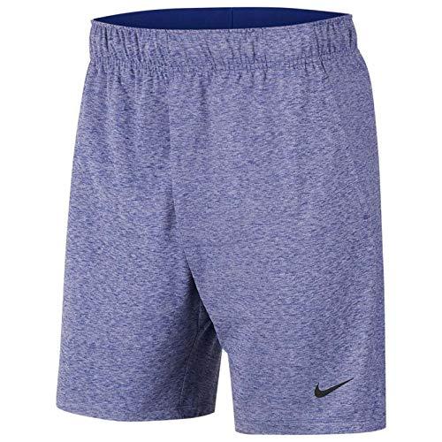 Nike Men's Yoga Dri-Fit Shorts, Blue(deep royal blue/htr/(black)) Small