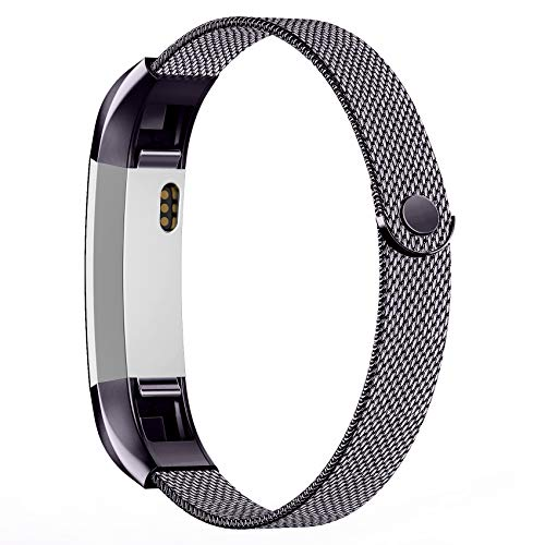Recoppa for Fitbit Alta Strap and Fitbit Alta HR Strap, Metal Stainless Steel Strap Compatible for Fitbit Alta/Alta HR, Small Large Women Men