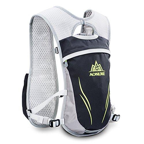 Geila Hydration Backpack, Hydration Vest Outdoors Sport Trail Marathoner Running Race Lightweight Rucksack for Men & Women(Gray)