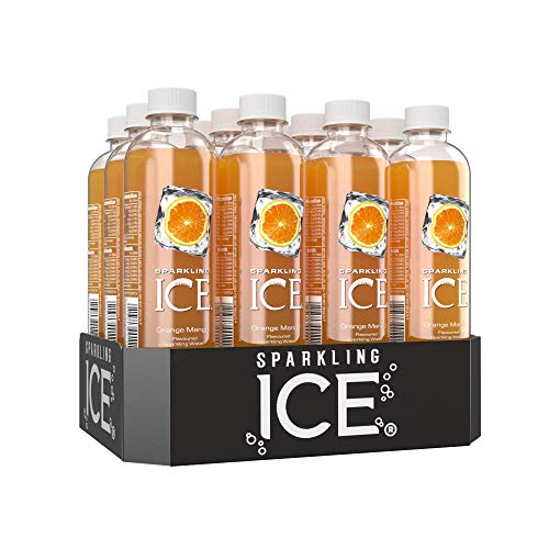 Sparkling Ice Orange Mango Flavour Sparkling Water with antioxidants and Vitamins, No Sugar, 500ml Bottles (Pack of 12)
