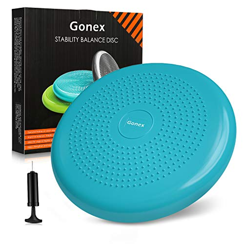 Gonex Balance Cushion 34cm Inflatable Stability disc Balance board For Fitness Exercise Yoga Turquoise