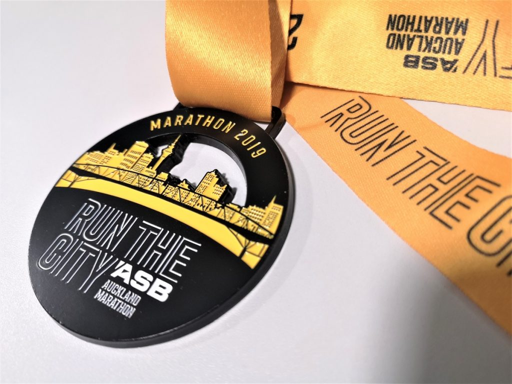auckland marathon medal