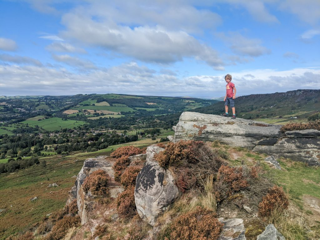 baslow and curbar edge, best hikes in the uk