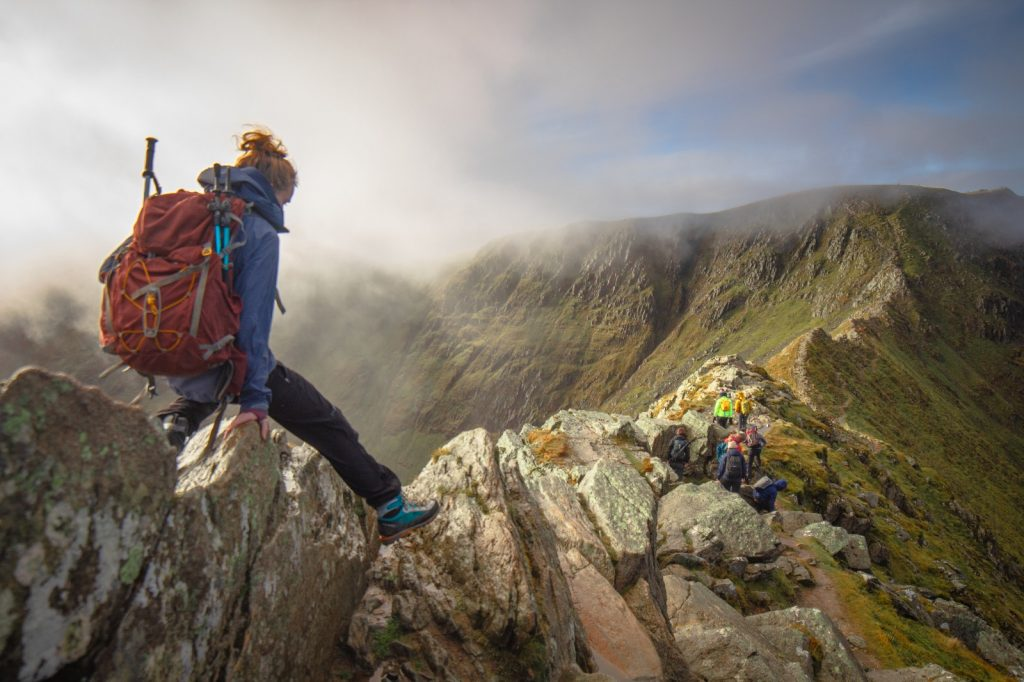 striding edge, best hikes uk